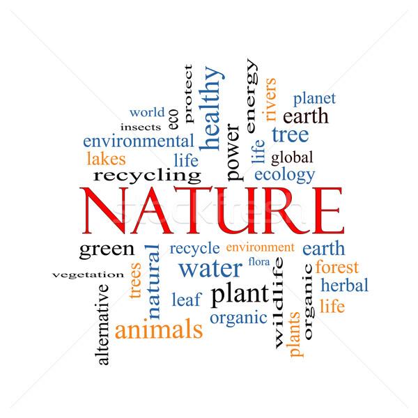 Nature Word Cloud Concept Stock photo © mybaitshop