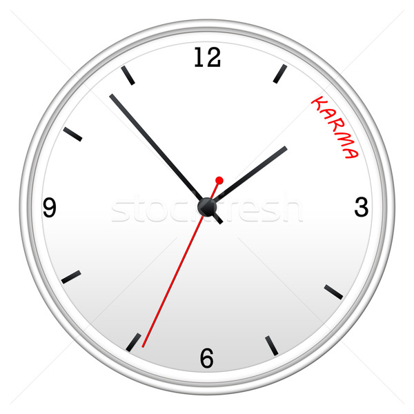 Tempo carma branco parede relógio mãos Foto stock © mybaitshop
