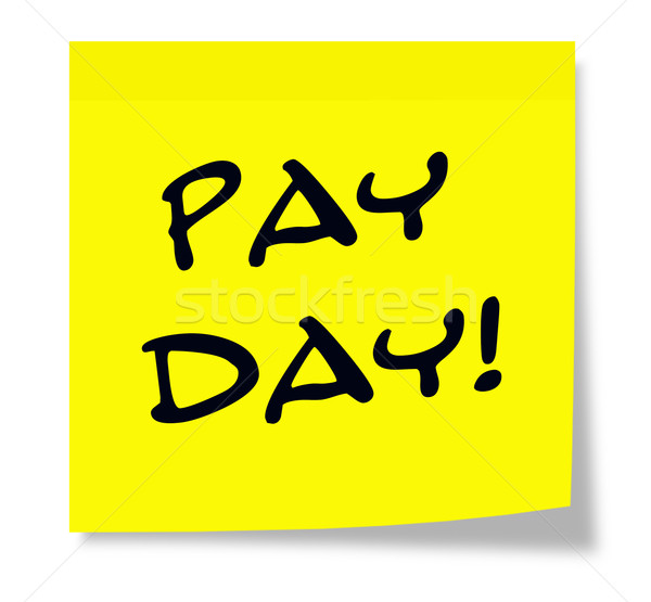 Pay Day written on a yellow sticky note Stock photo © mybaitshop