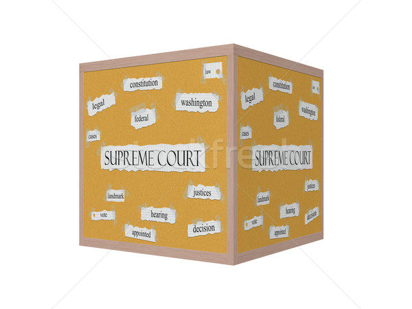 Supreme Court 3D Corkboard Word Concept Stock photo © mybaitshop