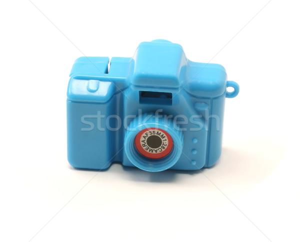 Azul juguete cámara 35mm blanco ninos Foto stock © mybaitshop