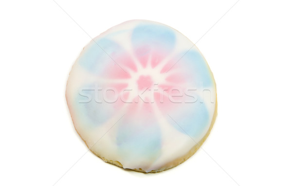 A flower designed frosted sugar cookie. Stock photo © mybaitshop