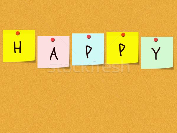 Happy Corkboard Stock photo © mybaitshop