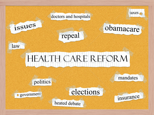 Healthcare Reform Corkboard Word Concept Stock photo © mybaitshop