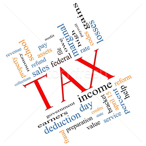 Tax Word Cloud Concept angled Stock photo © mybaitshop