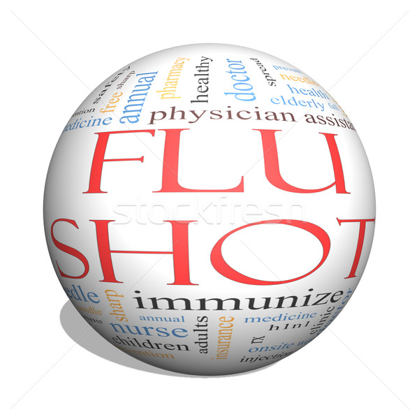 Flu Shot 3D Sphere Word Cloud Concept Stock photo © mybaitshop