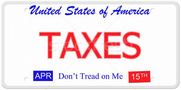 Taxes License Plate Stock photo © mybaitshop