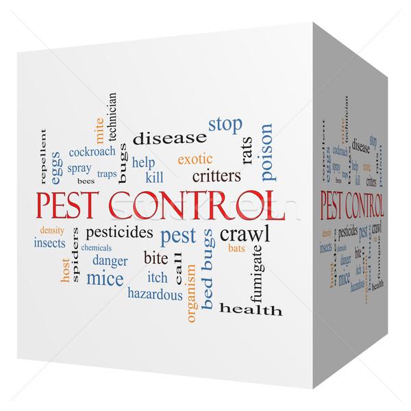 Pest Control 3D cube Word Cloud Concept Stock photo © mybaitshop
