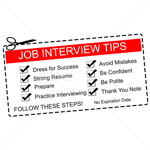 Red Job Interview Tips Coupon Stock photo © mybaitshop