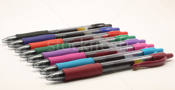 Multi colored gel pens Stock photo © mybaitshop
