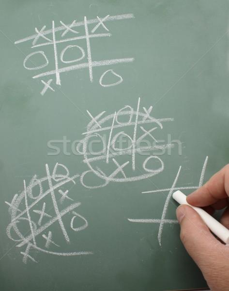 Teen krijt boord hand spelen spel Stockfoto © mybaitshop