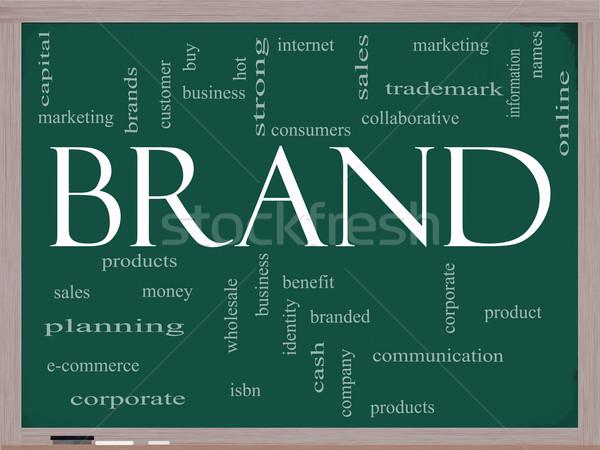 Marca word cloud lavagna consumatori marchio di fabbrica Foto d'archivio © mybaitshop