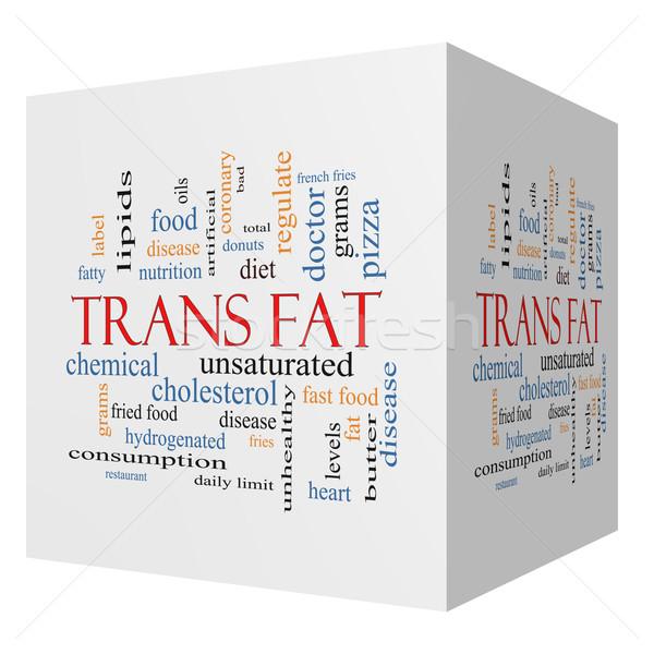 Trans Fat 3D Cube Word Cloud Concept Stock photo © mybaitshop