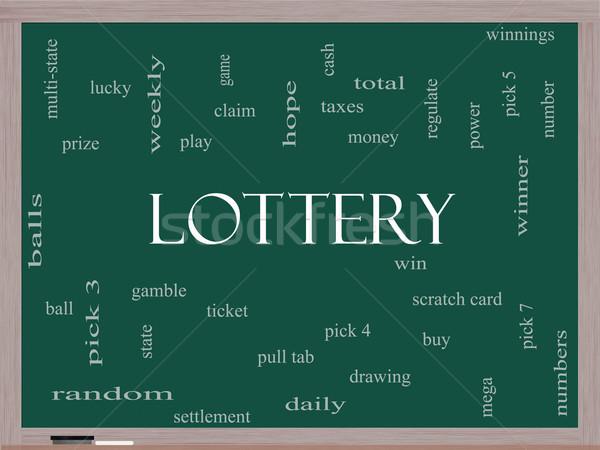 лотерея слово облако доске играть выиграть Сток-фото © mybaitshop