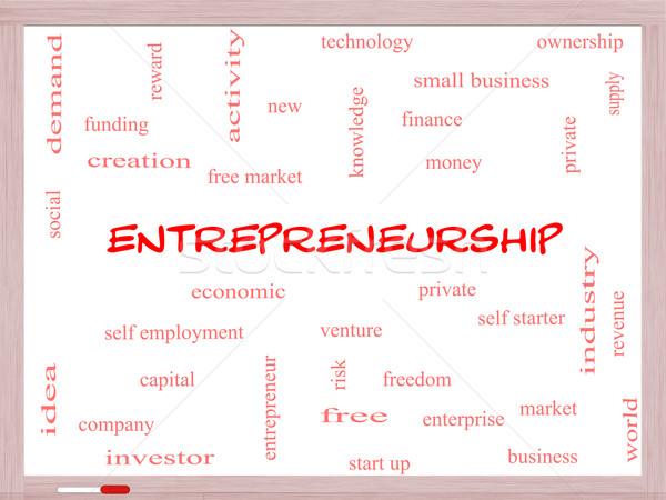 Ondernemerschap woordwolk groot economisch onderneming Stockfoto © mybaitshop