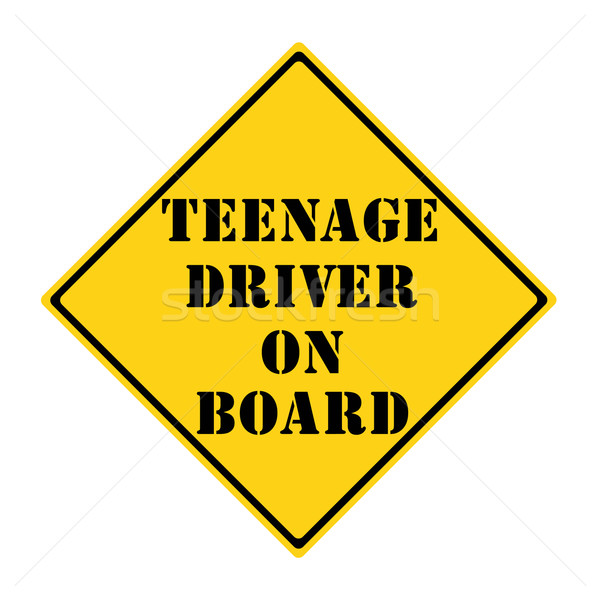 Teenage Driver on Board Sign Stock photo © mybaitshop