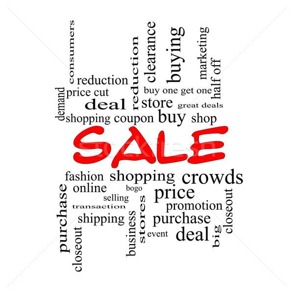 Сток-фото: продажи · слово · облако · красный · торговых · купить