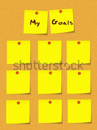 To do list boord Geel sticky notes Stockfoto © mybaitshop