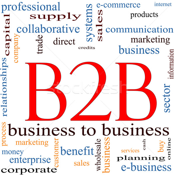 B2B Word Cloud Concept Stock photo © mybaitshop