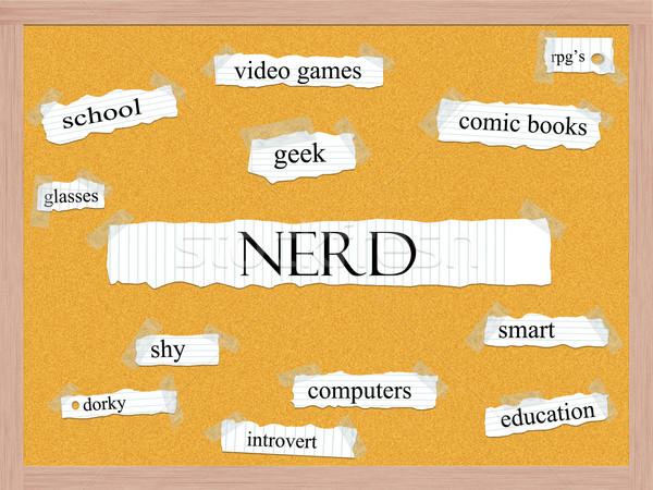 Nerd Corkboard Word Concept Stock photo © mybaitshop