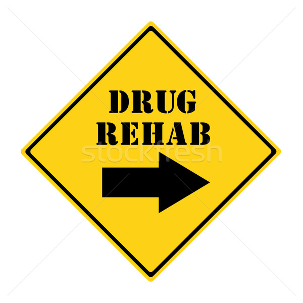 Drug Rehab that way Sign Stock photo © mybaitshop