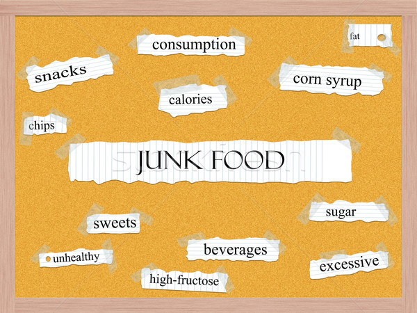 Junk Food Corkboard Word Concept Stock photo © mybaitshop