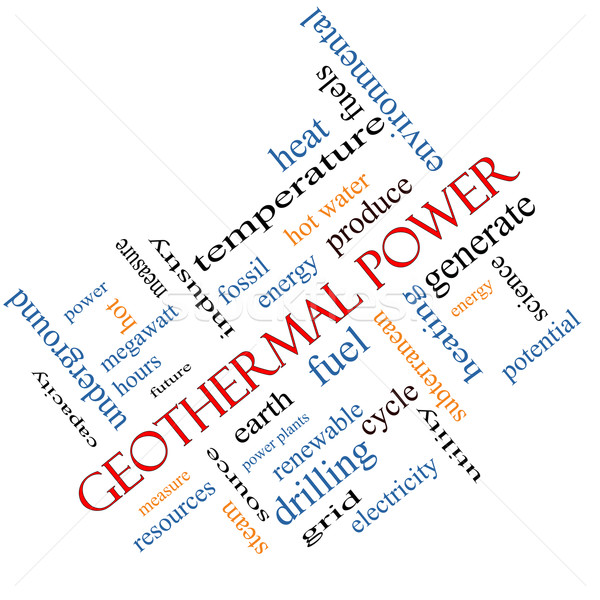 Geothermal Power Word Cloud Concept Angled Stock photo © mybaitshop