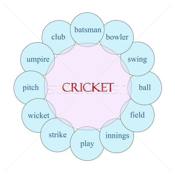 Cricket Circular Word Concept Stock photo © mybaitshop