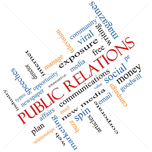 Public Relations Word Cloud Concept Angled Stock photo © mybaitshop