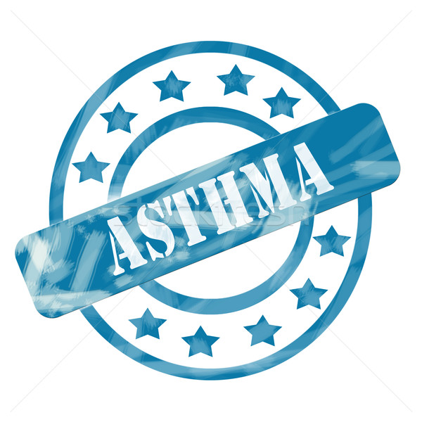 синий выветрившийся астма штампа Круги звезды Сток-фото © mybaitshop