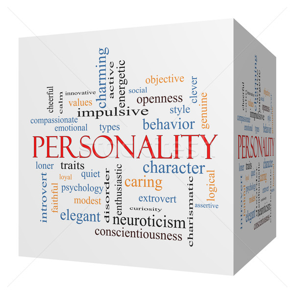 Personality 3D cube Word Cloud Concept Stock photo © mybaitshop