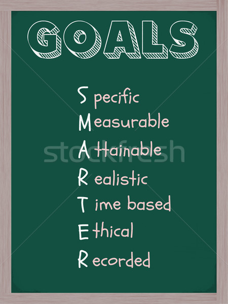 Smarter Goals Blackboard Stock photo © mybaitshop