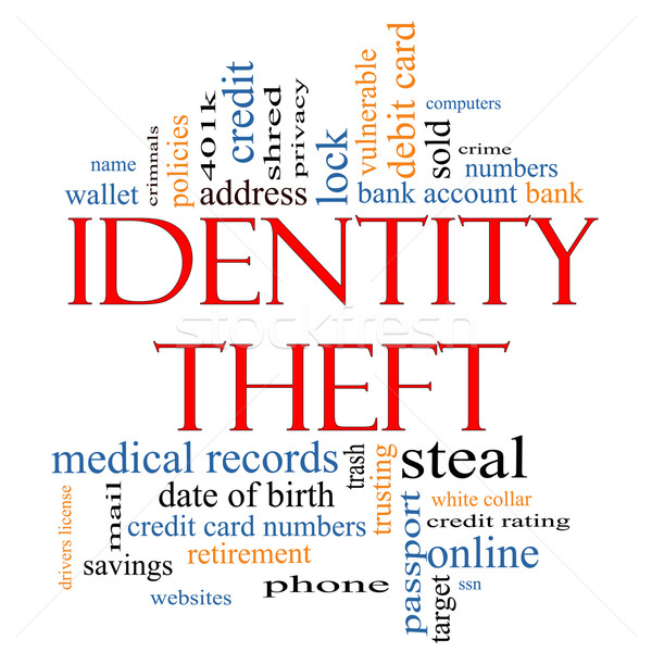 Identity Theft Word Cloud Concept Stock photo © mybaitshop