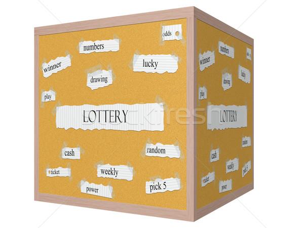 лотерея 3D куб слово шансы Сток-фото © mybaitshop