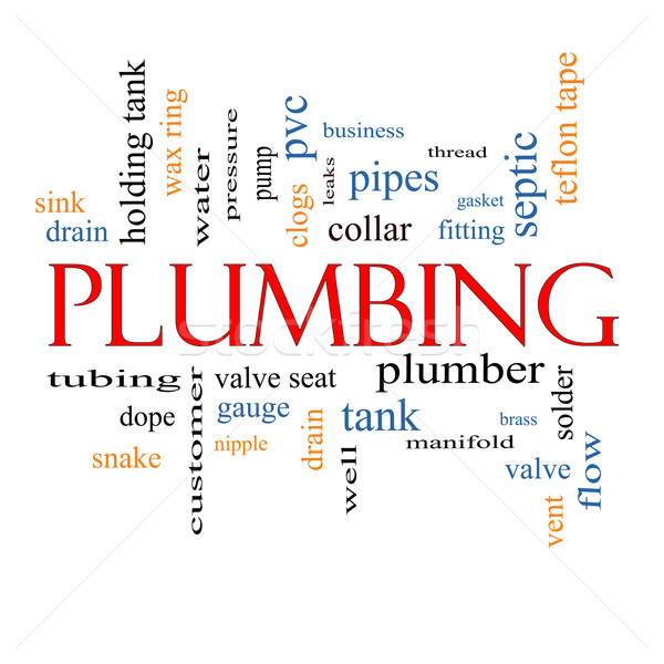 Stock photo: Plumbing Word Cloud Concept