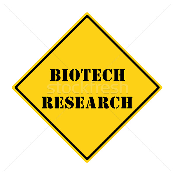 Biotech Research Sign Stock photo © mybaitshop