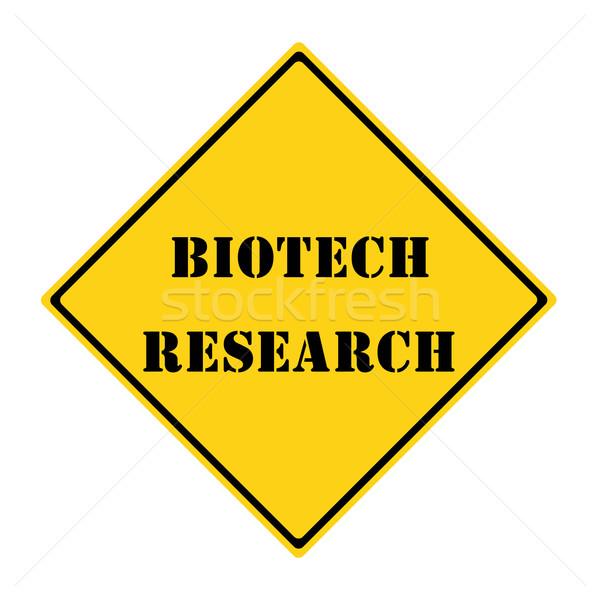 Biyoteknoloji araştırma imzalamak sarı siyah elmas Stok fotoğraf © mybaitshop