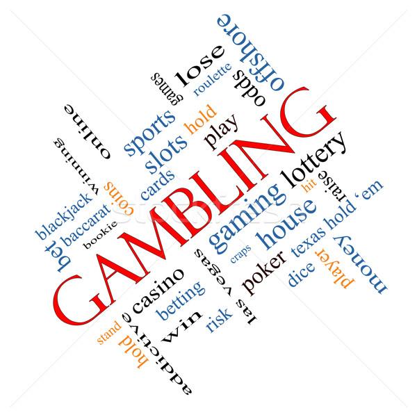 Gioco d'azzardo word cloud vincente odds casino Foto d'archivio © mybaitshop