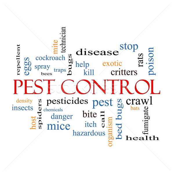 Pest Control Word Cloud Concept Stock photo © mybaitshop