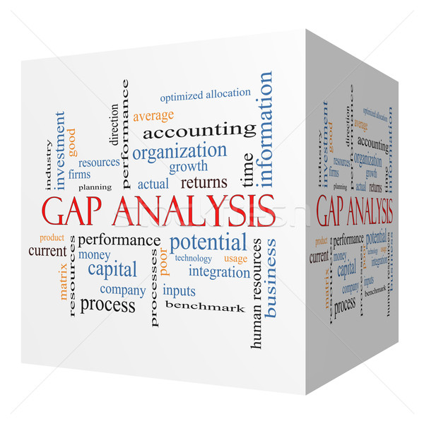 Gap Analysis 3D cube Word Cloud Concept Stock photo © mybaitshop