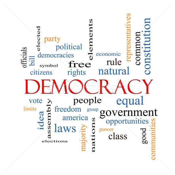 Democracy Word Cloud Concept Stock photo © mybaitshop