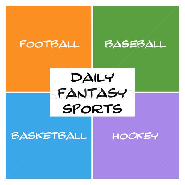 Dagelijks fantasie sport dozen rechthoek groot Stockfoto © mybaitshop