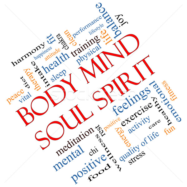 Body Mind Soul Spirit Word Cloud Concept Angled Stock photo © mybaitshop