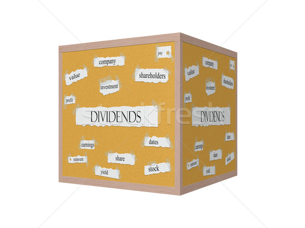 Dividend 3D Corkboard Word Concept Stock photo © mybaitshop