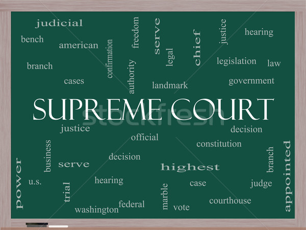 Sąd chmura słowo tablicy federalny prawa Zdjęcia stock © mybaitshop