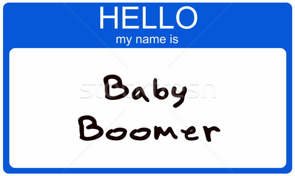 Baby Boomer Nametag Stock photo © mybaitshop