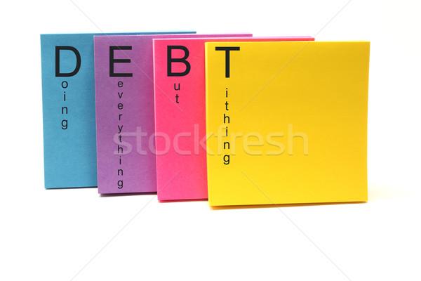 DEBT Acronym Stock photo © mybaitshop