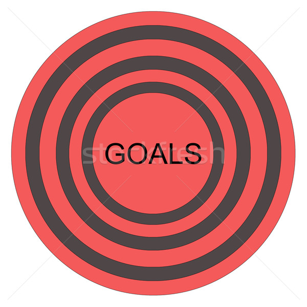 Goals Bullseye Stock photo © mybaitshop