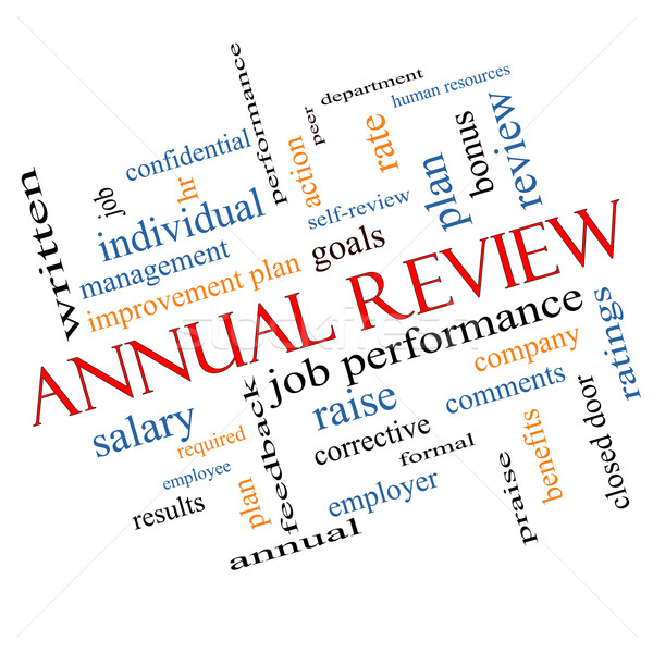Annual Review Word Cloud Concept Angled Stock photo © mybaitshop