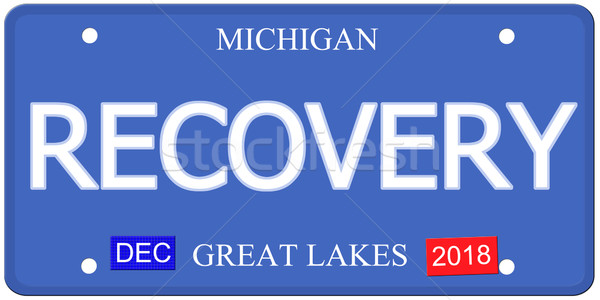 Recovery Imitation Michigain License Plate Stock photo © mybaitshop